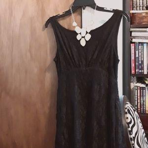 Dresses & Skirts - Pretty Black Lace Dress, size 12